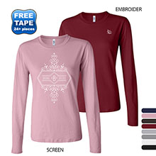 Bella + Canvas® Cotton Jersey Ladies' Long Sleeve Tee