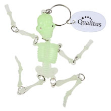 Glow in the Dark Skeleton Keychain
