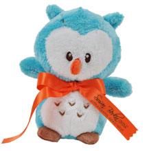 "Baby Rattle Plush Owl, 6"""