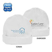Rabbit Skins® Ringspun Cotton Infant Cap, White