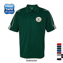 adidas® Golf ClimaLite® 3-Stripes Cuff Performance Pique Men's Polo