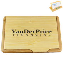 Bamboo 2 Way Business Card Holder
