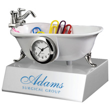 Bathtub Clock w/Base