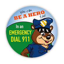 In an Emergency Dial 911 Sticker Roll, Stock