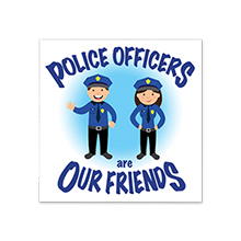 Police Officers Are Our Friends Temporary Tattoo, Stock