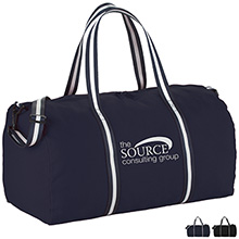 """Admiral Cotton Weekender Duffel Bag, 21-1/2"""" - Free Set Up Charges!"""