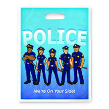 Police We're On Your Side Full Color Litterbag, Stock