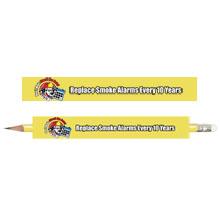 Replace Smoke Alarms Every 10 Years Pencil, Stock