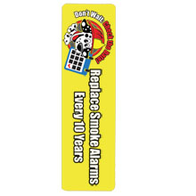 Replace Smoke Alarms Every 10 Years Bookmark, Stock