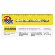 Replace Smoke Alarms Every 10 Years Laminated Safety Ruler, Stock