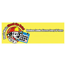 Replace Fire Alarms Every 10 Years Full Color Heavy Duty Fire Prevention Banner, Stock
