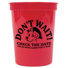Don't Wait: Check the Date! Replace Smoke Alarms Every 10 Years Stadium Cup, 17oz., Stock