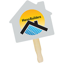 House Shape Full Color Hand Fan