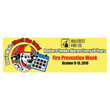 Replace Fire Alarms Every 10 Years, Heavy Duty Banner w/ Custom Full Color Imprint, 2' x 6'