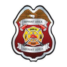 "Firefighter Plastic Badge ""Proud to Serve"""