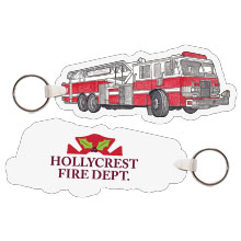 Fire Engine w/Ladder Full Color Key Tag