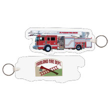 Fire Truck Quint Full Color Key Tag