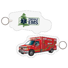 Ambulance EMS Full Color Key Tag