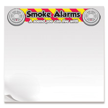 Smoke Alarms A Sound You Can Live With, 50 Sheet Sticky Pad