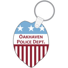 Police Badge Soft Vinyl Key Tag