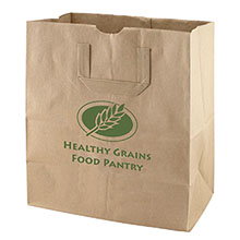 "Flat Handle Paper Grocery Bag, 12"" x 14"""