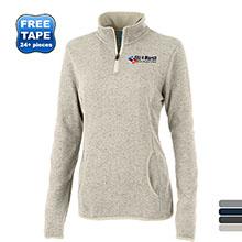 Charles River® Heathered Fleece Ladies' Quarter Zip