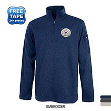 Charles River® Heathered Fleece Men's Quarter Zip