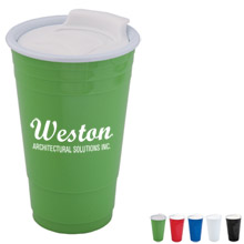 Acrylic Party Cup w/ Slider Cap, 17oz.