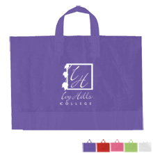 "Color Frosted Soft Loop Handle Bag, 10"" x 12"""