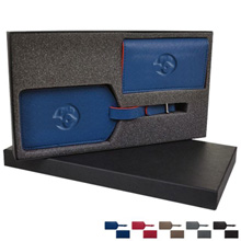 Duet Two-Tone PVC Luggage Tag & Business Card Case Gift Set
