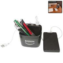 Caisson 3-in-1 USB Desk Caddy