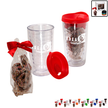 Avalon Tumblers & Chocolate Covered Pretzels Gift Set