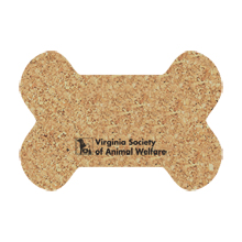"Dog Bone Cork Mat, 19"" x 13"""