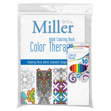 Color Therapy® 24 Page Adult Coloring Book & Colored Pencil Set