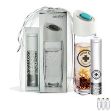 Simply Clear Glass Bottle & Asobu Tea Tin Gift Set, 14oz.