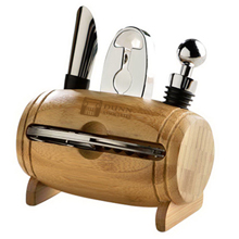 Bamboo Barrel Wine Tool Set