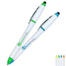 All-in-One Highlighter w/ Pen & Stylus, Full Color