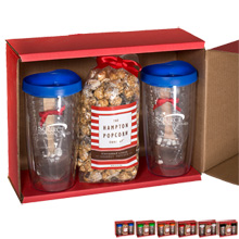 Avalon Tumblers, Popcorn & Hot Cocoa Gift Set