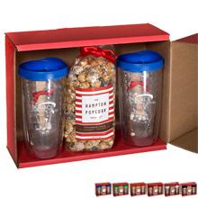 Avalon Tumblers, Popcorn & Hot Cocoa Gift Set