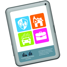 """3M™ Small Tablet Skin, 7"""" x 5"""""""