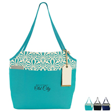 Damask Fashion Cotton Tote - Free Set Up Charges!