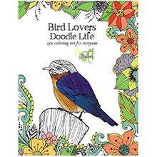 Bird Lovers Doodle Life Adult Coloring Book
