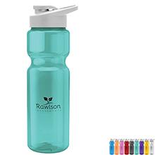 Transparent Sports Bottle, 28oz. - Drink Thru Lid - Free Set Up Charges!