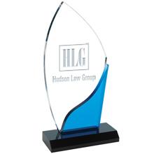 """Blue Accent Acrylic Award, 5"""" x 9-5/8"""""""