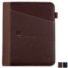 Cedar Leather Padfolio with Writing Pad