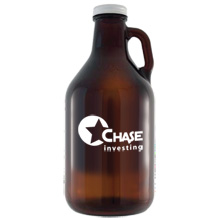 Amber Glass Growler, 64oz.
