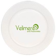 "Economy White Paper Plate, 9"""