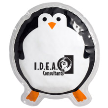 Round Penguin Aqua Pearls Hot/Cold Pack