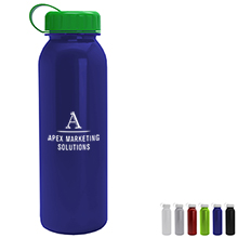 Aquarius Tritan™ Metallic Sport Bottle, 24oz. - Tethered Lid