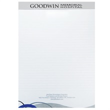 "Legal Pad with Imprinted Header, 8-1/4"" x 11-3/4"""